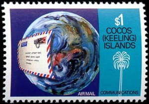 Cocos Islands #162-165 Complete Set(4), 1987, Radio, Space, Never Hinged