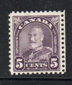 Canada Sc 169 1930 5 c dull violet G V arch issue stamp mint NH