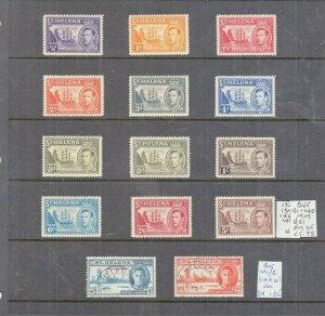 ST HELENA 1938 SET TO 5/- BOTH 8D VALUES MINT