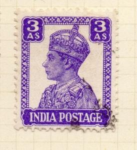 India 1940-43 Early Issue Fine Used 3a. 085231