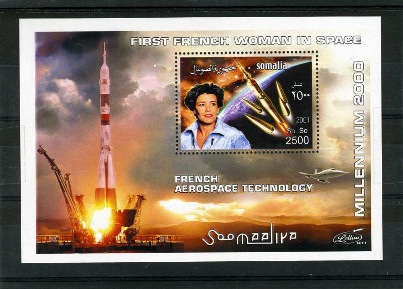 Somalia 2001 French Aerospace Technology s/s Perforated mnh.vf