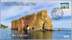 CA18-013, 2018, From Far and  Wide, Perce Rock, Day of Issue, FDC,