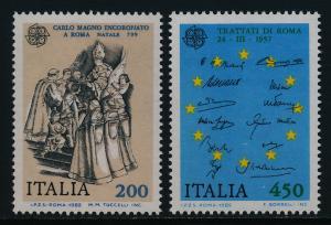 Italy 1513-4 MNH EUROPA, Coronation of Charlemagne, Treaty of Rome