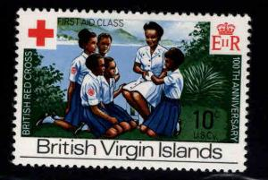 Virgin Islands  Scott 227 MH* red cross, scout stamp