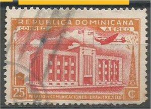 DOMINICANA,  1944, used 25c , Communications Building Scott C51
