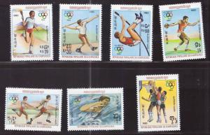 Cambodia Scott 378-384 MNH** LA Olympic Games set