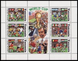 Tanzania World Cup Football Sheetlet of 6 SG#1892-1898 SC#1174Ai