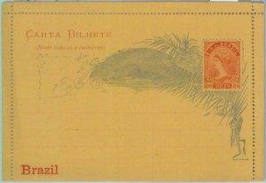 89599 - BRAZIL - Postal History -  Picture POSTAL STATIONERY LETTER CARD 1891