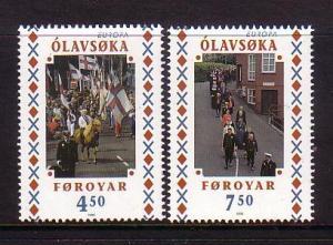 Faroe Islands Sc 336-7 1998 Europa stamp set mint NH