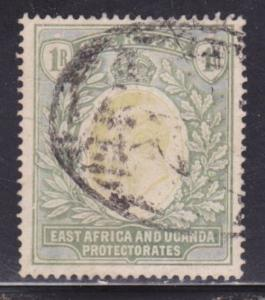 East Africa & Uganda Scott # 25 VF used neat cancel scv $ 75 ! see pic !