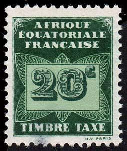 French Equatorial Africa - Scott J3 - Mint-Hinged - Thin