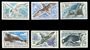 FSAT 1976 WILDLIFE SET IMPERF NH #58-63 CVMaury #58-63 @ €180.00