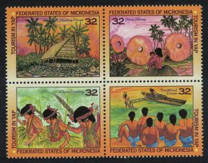 Micronesia Tourism in Yap 4v Block of 4 SG#461-464