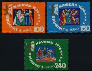 Uruguay 906-7, C400-1 MNH Christmas, Adoration of the Kings