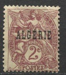 Algeria; 1924: Sc. # 2: **/MNH Gumless Single Stamp