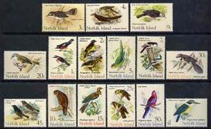 Norfolk Island 1970 Birds definitive set complete 15 valu...