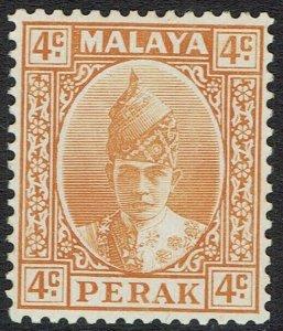 PERAK 1938 SULTAN 4C MNH **