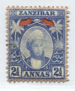 Zanzibar 1896 2 1/2 annas mint o.g.