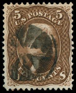 momen: US Stamps #95 VAR. Used WEISS Cert