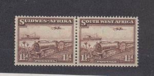 South West Africa 1937 1 1/2d Bilingual Pair SG96 MH JK1628