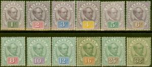 Sarawak 1888-97 set of 12 to 32c SG8-19 Ave - Fine Mtd Mint