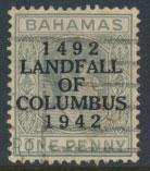 Bahamas  SG 163 SC# 117 Used / FU  Landfall of Columbus see details