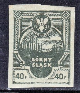 UPPER SILESIA PRIVATE ISSUE GORNY SLASK 40f  SEE SCAN