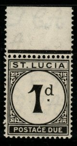 ST.LUCIA SGD3 1933 1d BLACK POSTAGE DUE MNH