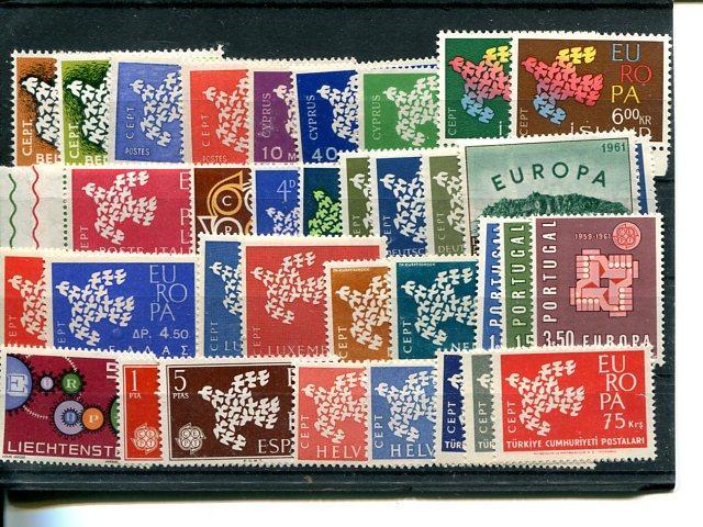 Europa CEPT  1961 good lot  VF NH  - Lakeshore Philatelicsgood lot