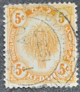 DYNAMITE Stamps: Malaya Kedah Scott #30 – USED