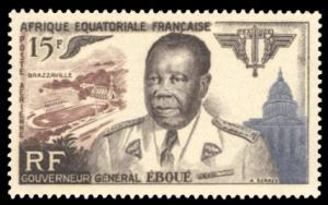 French Equatorial Africa 1955 Scott #C42 Mint Never Hinged