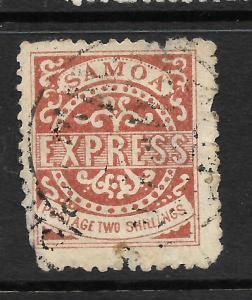 SAMOA  1877-80  2/-  BROWN   EXPRESS   FU   SG 18