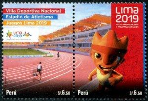 HERRICKSTAMP NEW ISSUES PERU Sc.# 1983 Pan American Games, Lima 2019