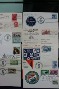 TOPEX ATA convention philatelic cachet cover expo lot US stamp show 1950-1970s