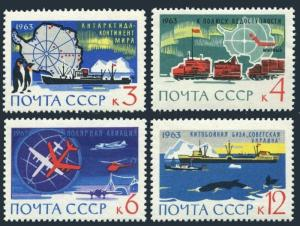 Russia 2779-2782,MNH.Michel 2801-2804. Antarctic Research,Penguins,Whale,Ship,