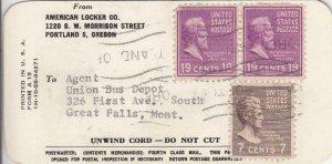 194X, Locker Tag W/Prexies: Portland, OR, See Remark (33855)