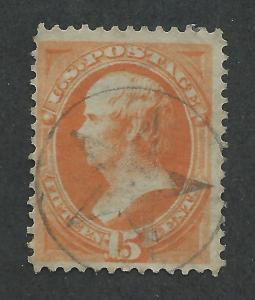 #163 used, 15c. Webster, Fancy  Star Cancel, SCV $160