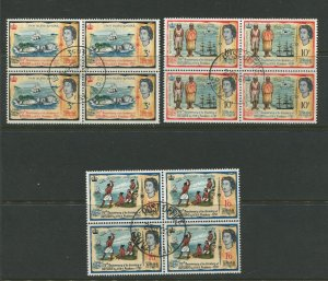 STAMP STATION PERTH Fiji #221-2230 QEII General Issue Used Block 4 1964 CV$10.00
