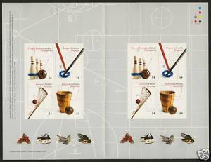 Canada 2338 Booklet BK409 MNH Canadian Inventions, Sports