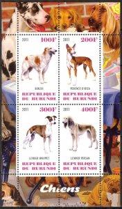 Burundi 2011 Dogs (6) MNH Cinderella !