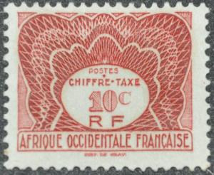 DYNAMITE Stamps: French West Africa Scott #J1 - UNUSED