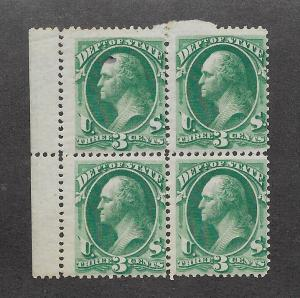 O59 MNH,  3c. State Dept. scv: $1,100. Free, Insured Shipping