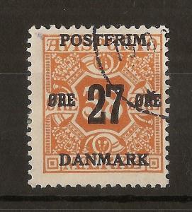 Denmark 1918 27o on 38o SG204 Fine Used Cat£100