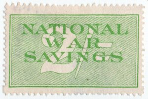 (I.B-CK) Cinderella Collection : National War Savings 2/- (inv. watermark)
