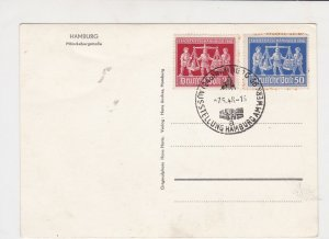 German  1948 Hamburg Photo and Cancel Two stamps stamps card ref R 16319