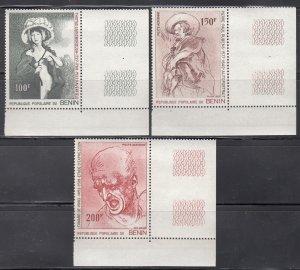 Benin, Sc 64-66, MNH, 1977, Ruben, Airmail