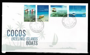 Cocos Island 2011 Boats FDC