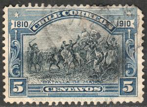 Chile 86, 5c Battle of Maipu CENTENNIAL. Used. F. (551)