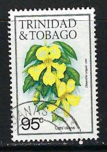 TRINIDAD & TOBAGO 401 VFU FLOWERS R10-109