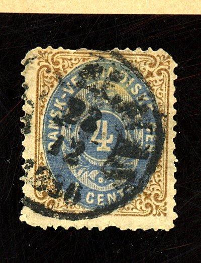 Danish W Indies #76 Used Fine Faults Cat$225